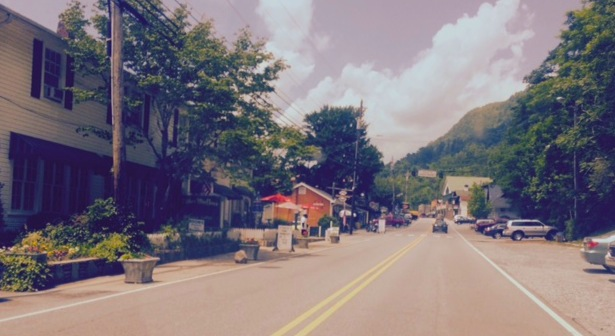 The village of Chimney Rock