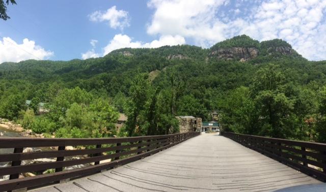 Cross the bridge and enjoy a hike!