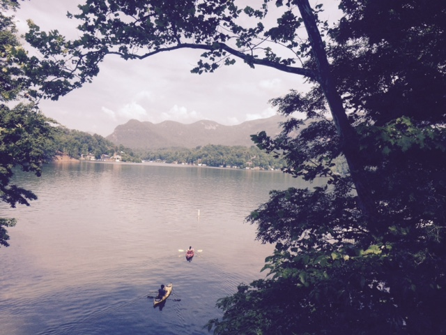 Paddling around Lake Lure